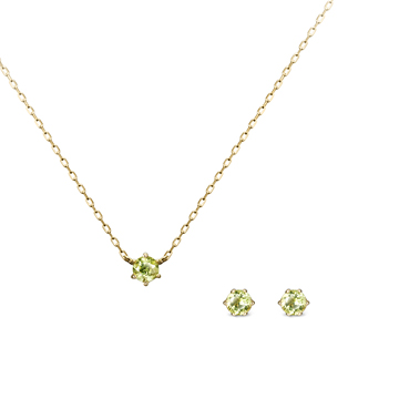 버드케이지 Set 14k peridot 0.1ct